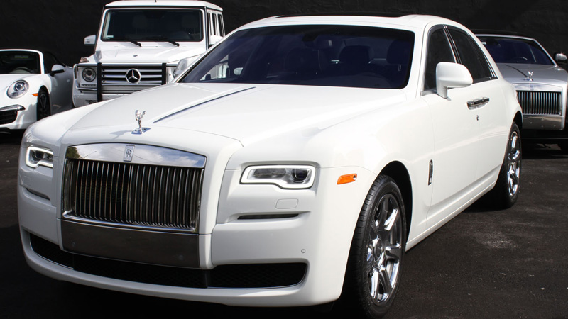 Corby Rolls Royce Ghost Wedding Car